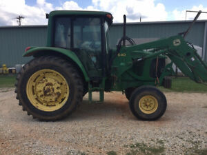 2004 John Deere 6220 2wd Farm Tractor W Cab Loader Only 4600 Hours