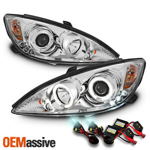 Fits 2002 2006 Toyota Camry Halo Projector Led Headlights Light Lamp 8000k Hid