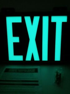 New Jessup Manufacturing Co Glo Bright 7001 Single Face Exit Sign Wall Mounted