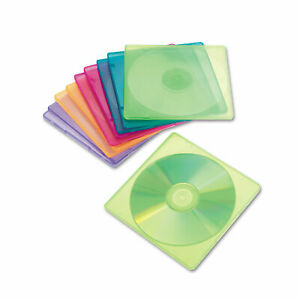 Innovera Slim Cd Case Assorted Colors 10 pack 81910