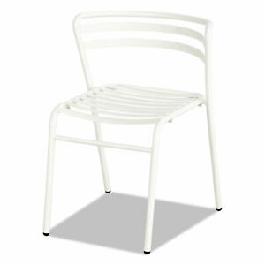 Safco Cogo Steel Outdoor indoor Stack Chair White 2 carton 4360wh