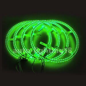 14 Inch Double Row Led Rim Light For Car Bluetooth Control Wheel Ip68 Waterproof