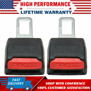 2pack Universal Car Safe Seat Belt Buckle Extension Extender Clip Alarm Stopper