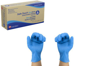 Dynarex Safe Touch Blue Nitrile Exam Gloves Powder Free Select Size And Qty