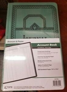 Boorum Pease Record account Book Journal Rule Blue 500 Page