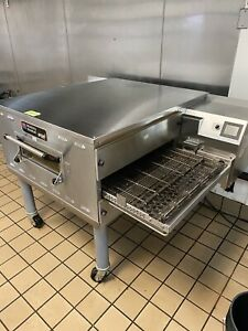 2019 Middleby Marshall Stainless Steel Natural Gas Pizza Conveyor Oven On Caster