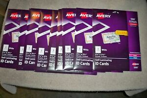 Avery 2 1 4 X 3 5 Self laminating Id Cards 30 Cards Total 5361