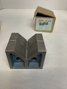 vintage Pair Eron 110 Iron Vee Blocks V block Type B Stock 3 Inch No 110