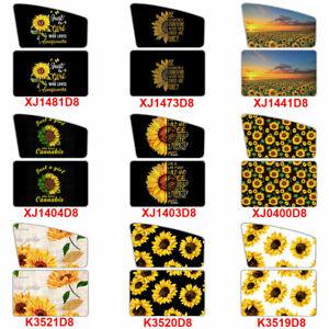2 Pack Sunflower Car Side Window Sunshade Front And Rear Baby Magnetic Curtain