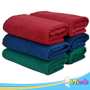 Microfiber Cleaning Cloths Towels Extra Large 6 pack 27 X 16 Home Car Wash