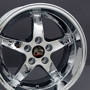 Wheel 1994 2004 Ford Mustang rear Only 17 Alloy Rim 5 Lug 114 3mm Chrome