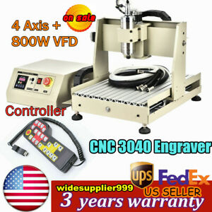 4 Axis Cnc 3040 Router Engraver Engraving Machine Milling 800w Cutter controller