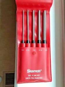 Starrett Drive Pin Punch Set No S248pc