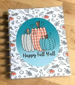 Happy Fall Y all Pumpkins Autumn Cover Set 4 Use With The Happy Planner