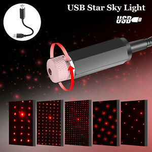 Usb Car Interior Led Light Roof Home Atmosphere Starry Sky Lamp Star Projector