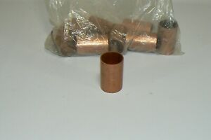 Lot Of 9 Nibco 1 Copper Couplings W stop
