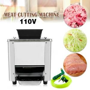 Electric Commercial Cutting Machine Slicers Meat Slicing Shredding 550w Us 110v