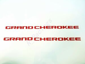 2pcs New Set Matte Red Grand Cherokee 3d Letters Emblems Nameplate Jeep Badge
