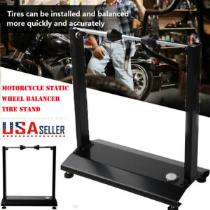 Universal Motorcycle Static Wheel Balancers Tire Stand Street Truing Stand Rack