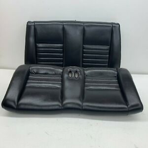 1999 2004 Oem Ford Mustang Convertible Rear Seat Back Leather Gt Charcoal s7576