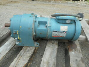Reliance Electric Ac Motor 208 230v 1hp Model P56h1441v nt With Speed Reducer