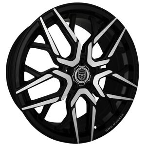 4 G44 Nigma 20 Inch Gloss Black Rims Fits Ford Shelby Gt 500 2007 2018