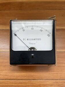 Vintage Simpson Dc Milliamperes Milliamps Panel Meter Gauge