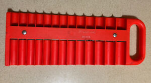 Snap On Tools Mr1426 Magnetic Socket Holder Red Handle Handy Storage Mechanic