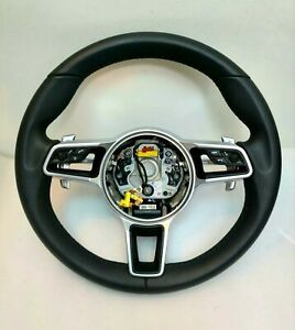 Porsche Steering Wheel Black 911 991 997 Paddle Shift Cayenne Macan Leather