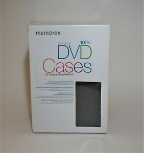 Memorex Standard Dvd Cases 10 Pack New Free Shipping