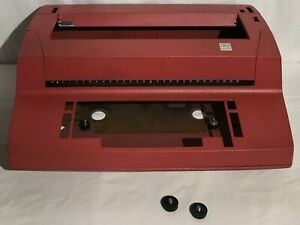 Red Ibm Correcting Selectric Ii Empty Typewriter Case Body Shell Parts Vintage