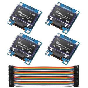 4pcs I2c Oled Module Iic Ssd1306 128 64 Lcd With Du pont Wire 40 pin For Arduino
