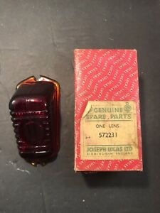 Mg Td Morris Minor Glass Red Lens Nos