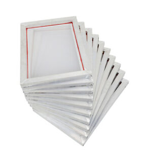10pack Alu Frame Screen Printing Screens 110 Mesh 10x14 For T shirt Diy Printer