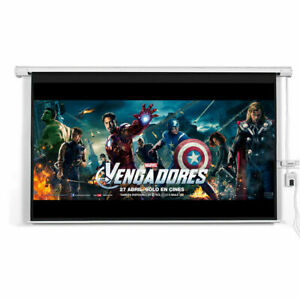 New 120 16 9 Motorized Electric Auto Projector Projection Screen Remote Control