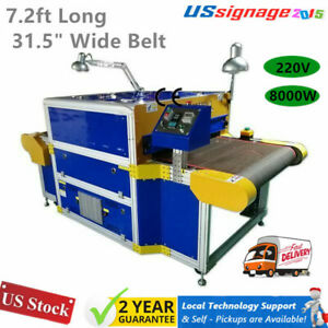 220v 8000w Conveyor Tunnel Dryer 7 2ft Longx 31 5 Wide Belt For Screen Printing
