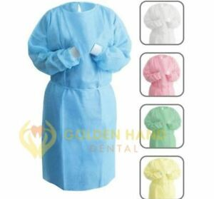 Disposable Dental Isolation Gown Protective Material Medical White 50x