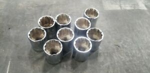 Proto And Blackhawk 1 2 Drive 24mm Sockets Lot Of 9 Made In Usa
