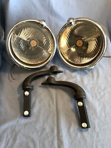 Senior Trippe Vintage Fog Driving Lights With Levels Nice Working Condition