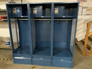 Steel Locker Cabinet With 6 Compartments Gray