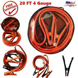 20 Ft Heavy Duty Power Booster Cable Emergency Car Truck Battery Jumper Us