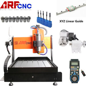 4 Axis Cnc Router 6040 Engraver 2200w Pcb Metal Wood Cutting Mill Drill Machine
