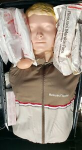 Laerdal Resusci Anne Adult Manikin Torso Emt Cpr Trainer In Case Educational