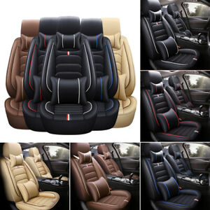 Otoez 5 Layer Car Seat Cover Set W Waterproof Leather Full Ptotector Universal