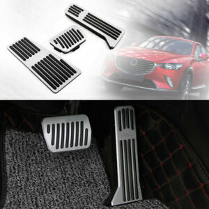 Foot Rest Pedal Pads Fuel Brake Pedal Accessories For Mazda 3 6 Cx 3 Cx 5