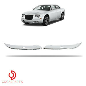 Fits 2005 2010 Chrysler 300 5 7l Front Bumper Molding Trim With Headlight Washer