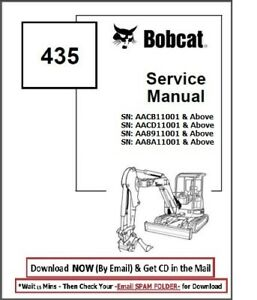 Bobcat 435 Compact Excavator Workshop Hydraulic Service Repair Manual Aacb11001