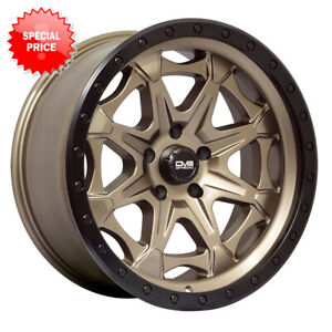 Dv8 886a 20x9 5x127 Et 12 Matte Bronze With Black Simulated Beadlock qty Of 4