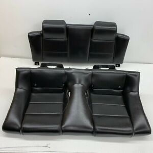 2005 2009 Oem Ford Mustang Convertible Base Rear Black Leather Back Seats s7619