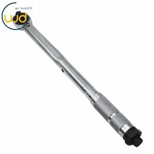 New 1 2 Torque Wrench Range 10 150 Ft lb 18 Long Click type Hand W Case Usa
